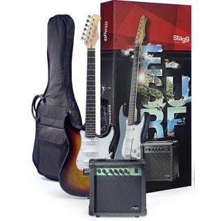 Stagg ESURF 250 SB US Surfstar Sunburst Electric Guitar and Amplifier Package