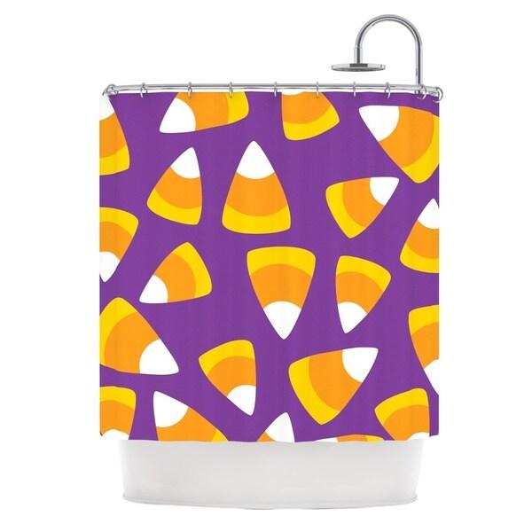 KESS InHouse KESS Original 'Kandy Korn - Purple' Shower Curtain (69x70)