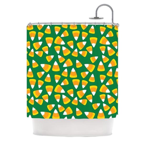 KESS InHouse KESS Original 'Kandy Korn - Green' Shower Curtain (69x70)