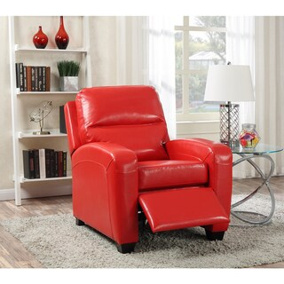 LYKE Home Leather Reclining Club Chair