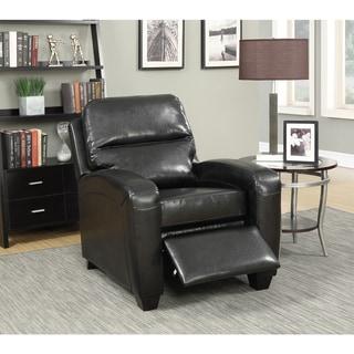 LYKE Home Leather Reclining Club Chair