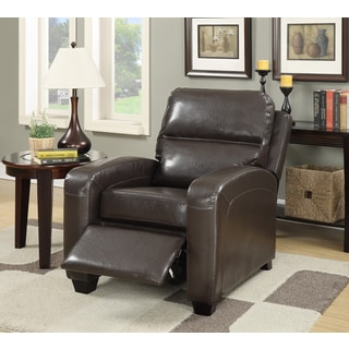 LYKE Home Leather Push Back Recliner