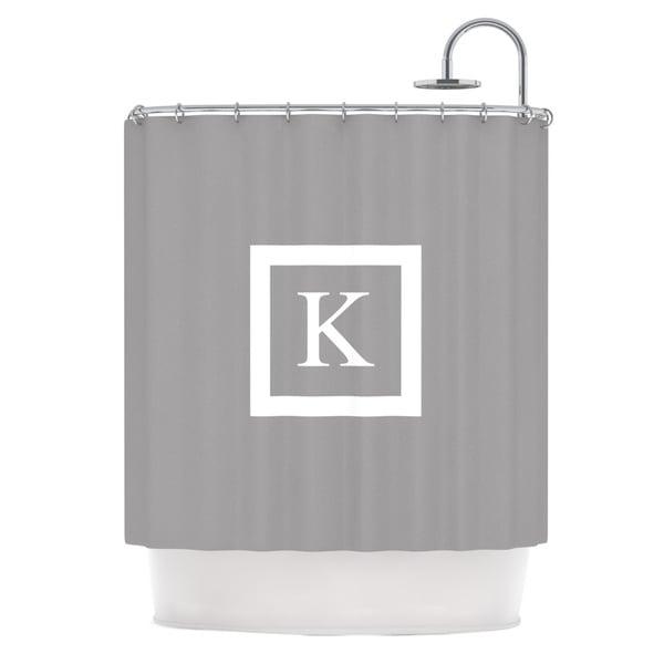 KESS InHouse KESS Original 'Monogram Solid Grey' Shower Curtain (69x70)