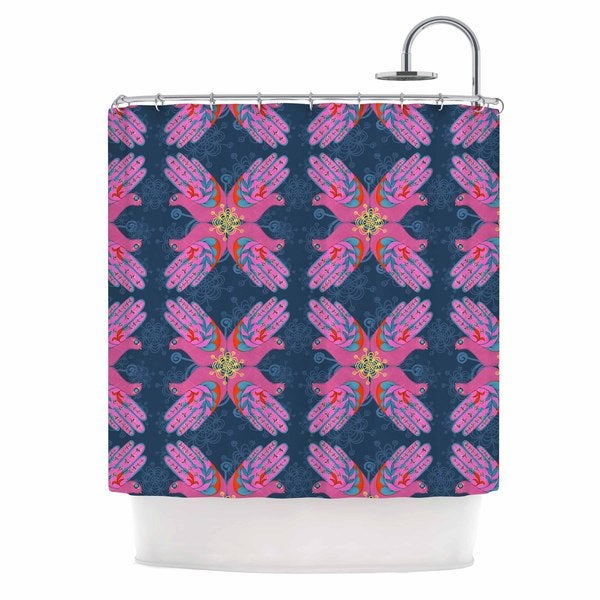 KESS InHouse Jane Smith 'Hamsa' Shower Curtain (69x70)