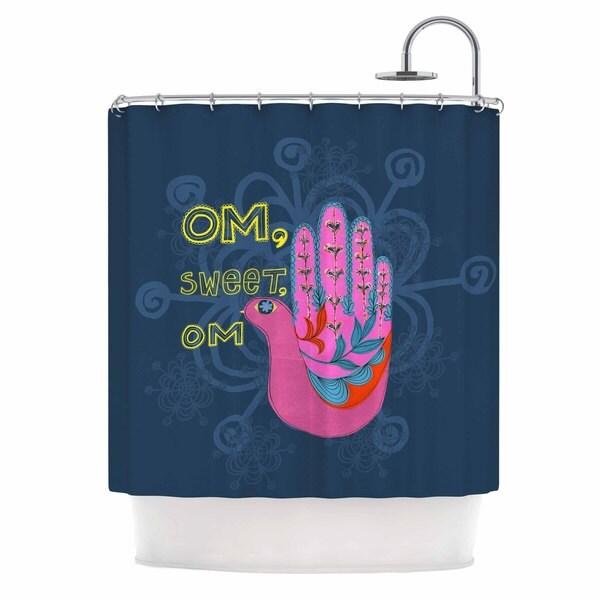 KESS InHouse Jane Smith 'Om, Sweet, Om' Shower Curtain (69x70)