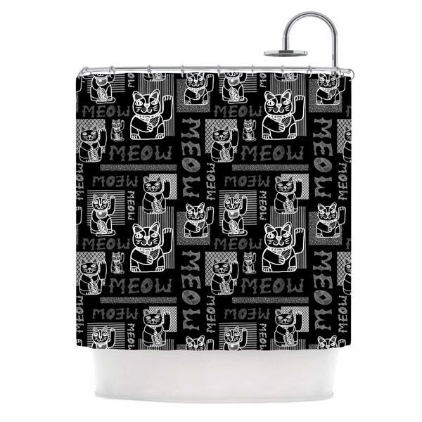 KESS InHouse Jane Smith 'Meow Repeat' Shower Curtain (69x70)