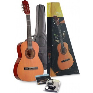 Stagg C530 STARTER P 3/4 Size Classical Guitar Starter Pack with Tuner, Gig Bag, and String Set Included