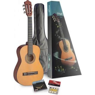 Stagg C510 PACK Half-size Classical Guitar Pack With Gig Bag and Pack of Strings Included|https://ak1.ostkcdn.com/images/products/12098190/P18961426.jpg?impolicy=medium