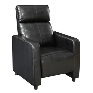 Lyke Home Black Club Chair Recliner