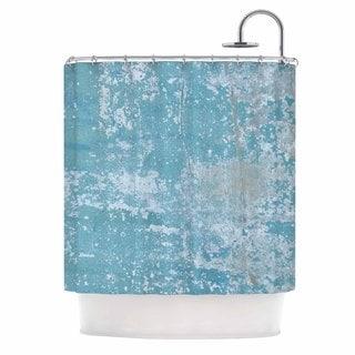 KESS InHouse Jennifer Rizzo 'Galvanized Blue' Shower Curtain (69x70)
