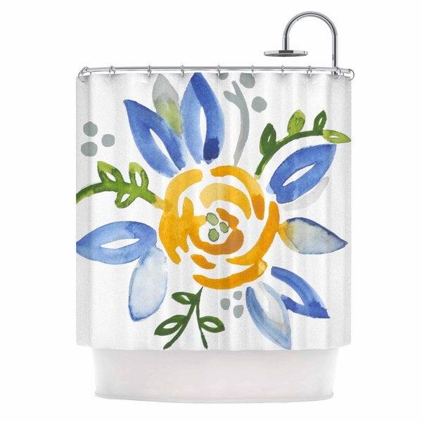 KESS InHouse Jennifer Rizzo 'Yellow Buttercup' Shower Curtain (69x70)