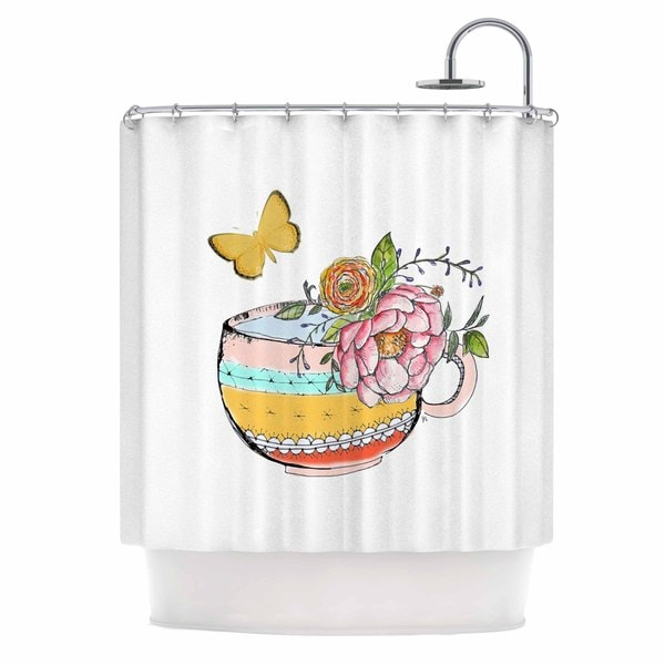 KESS InHouse Jennifer Rizzo 'Tea Cup Vase' Shower Curtain (69x70)