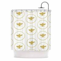 KESS InHouse Jennifer Rizzo 'Busy As A Bee White And Maize' Shower Curtain (69x70)