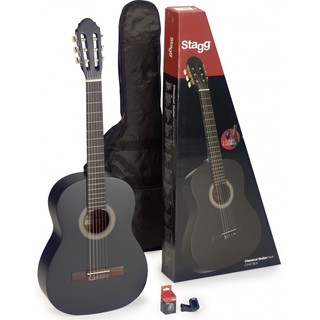 Stagg C440 M BLK PACK Black Classical Guitar Pack with Tuner and Gig Bag