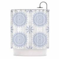 KESS InHouse Julia Grifol 'Mandalas In Blue' Shower Curtain (69x70)