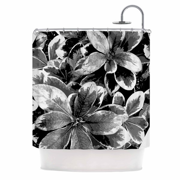 KESS InHouse Julia Grifol 'Leaves In Gray' Shower Curtain (69x70)