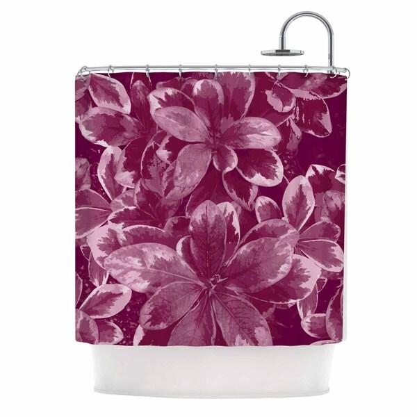 KESS InHouse Julia Grifol 'Warm Leaves' Shower Curtain (69x70)