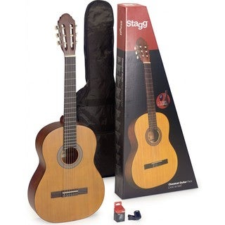 Stagg Classical Guitar Pack With Tuner and Gig Bag