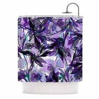 KESS InHouse Ebi Emporium 'Floral Fiesta Lavender' Shower Curtain (69x70)