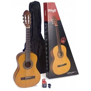 Stagg C430 M NAT 3/4-size Classical Guitar Pack With Tuner and Nylon Bag|https://ak1.ostkcdn.com/images/products/12098227/P18961427.jpg?impolicy=medium