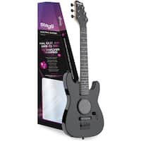 Stagg Black Junior Electric Guitar with Built-in Amplifier