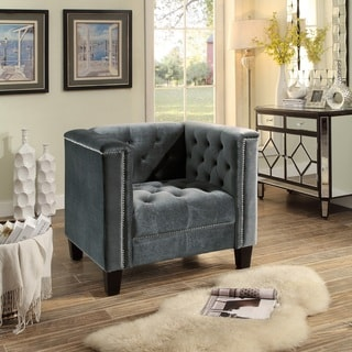 Rosemary Upholstered Tuft Club Arm Chair