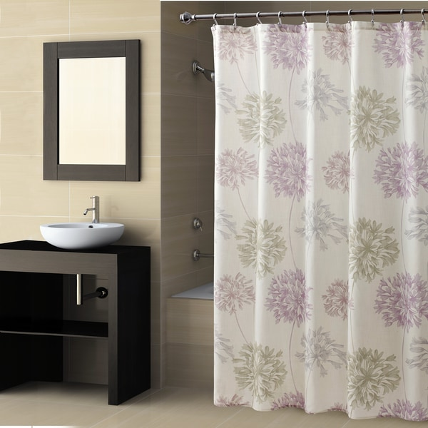 Croscill Dandelion Shower Curtain Lavendar