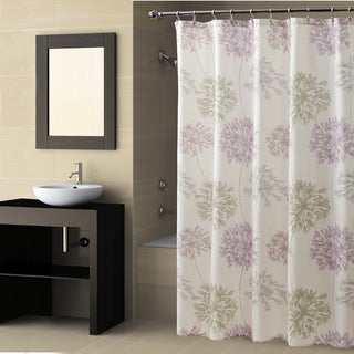 Croscill Dandelion Shower Curtain Lavendar