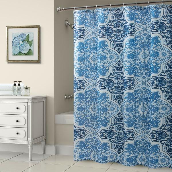 Croscill Olya Shower Curtain Blue