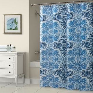 Croscill Olya Shower Curtain Blue