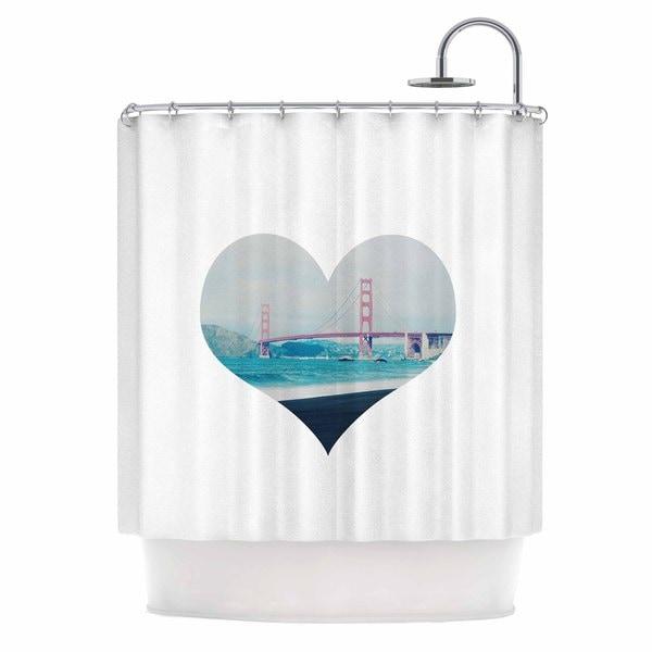 KESS InHouse Chelsea Victoria 'San Francisco Love' Shower Curtain (69x70)