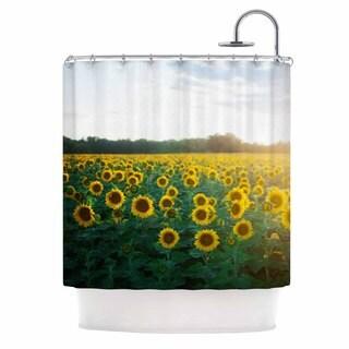KESS InHouse Chelsea Victoria 'Sunflower Fields' Shower Curtain (69x70)