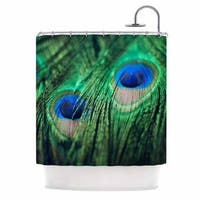 KESS InHouse Chelsea Victoria 'Peacock Feathers' Shower Curtain (69x70)