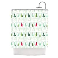 "Kess InHouse Allison Beilke ""Pining for Christmas"" Christmas HolidayShower Curtain, 69"" x 70"""