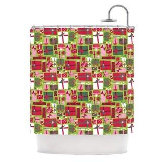 """Kess InHouse Allison Beilke """"Prezzies"""" HolidayShower Curtain, 69"""" x 70"""""""