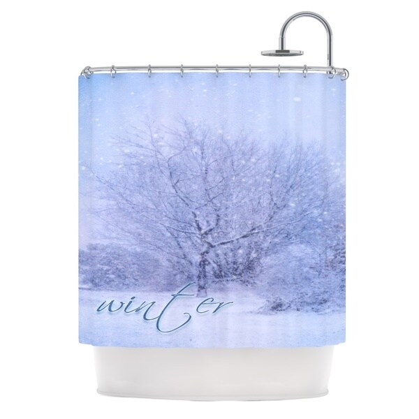 "Kess InHouse Alison Coxon ""Winter Tree"" LilacShower Curtain, 69"" x 70"""