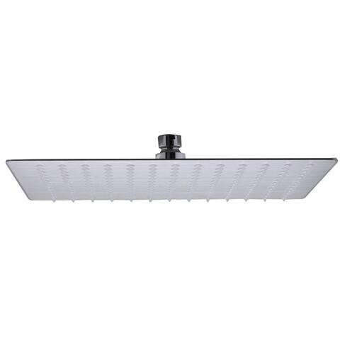 ALFI brand RAIN12S-BSS Brushed Stainless Steel 12-inch Square Thin Rain Shower Head
