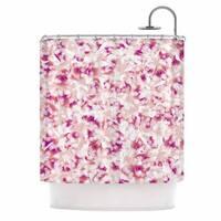 "Kess InHouse Angelo Cerantola ""Rosebreath"" Pink FloralShower Curtain, 69"" x 70"""