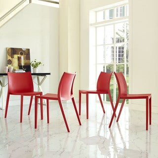 Modway Gallant Polypropylene Dining Side Chair (Pack of 4)
