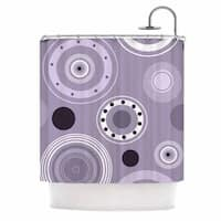 "Kess InHouse Alison Coxon ""Purple Circles"" Purple DigitalShower Curtain, 69"" x 70"""