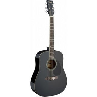 Stagg SA20D BLK Black Dreadnought Acoustic Guitar