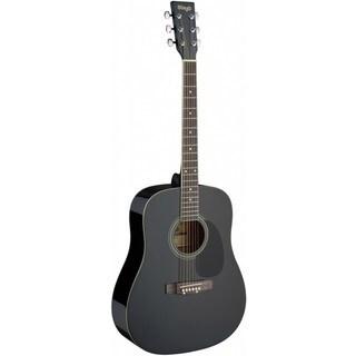 Stagg SA20D BLK Black Dreadnought Acoustic Guitar