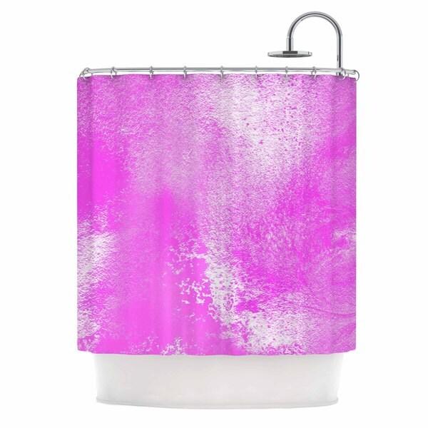 "Kess InHouse Ashley Rice ""AC5"" Abstract PinkShower Curtain, 69"" x 70"""