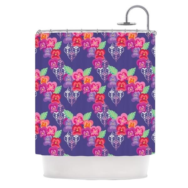 "Kess InHouse Anneline Sophia ""Beautifully Boho"" PurpleShower Curtain, 69"" x 70"""