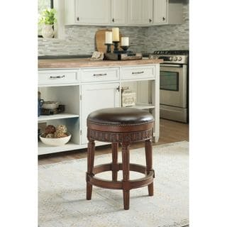 Signature Design by Ashley North Shore Dark Brown Swivel Stool