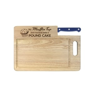 Essential Series 'Muffin Top' Wood Cutting Board With Santoku Knife