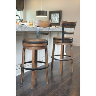 Signature Design By Ashley Pinnadel Light Brown Tall Swivel Barstool   N/A