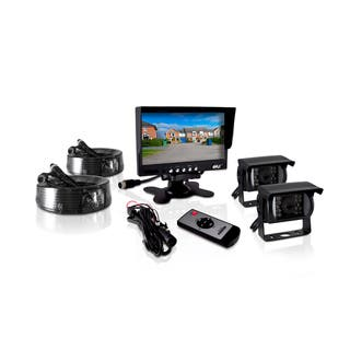 Pyle PLCMTR72 Weatherproof Rearview Backup 12-24V DC 2-camera Monitor System With 7-inch Monitor for Buses/Trucks/Trailer/Vans