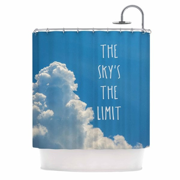 KESS InHouse Bruce Stanfield 'The Skys The Limit Square' Shower Curtain (69x70)