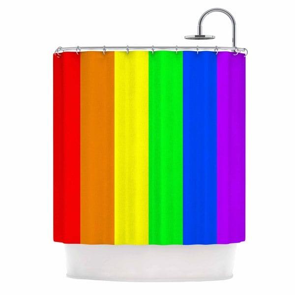 KESS InHouse Bruce Stanfield X27Rainbowx27 Shower